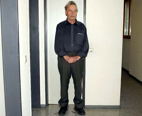 Josef Fritzl, photographed just after his arrest